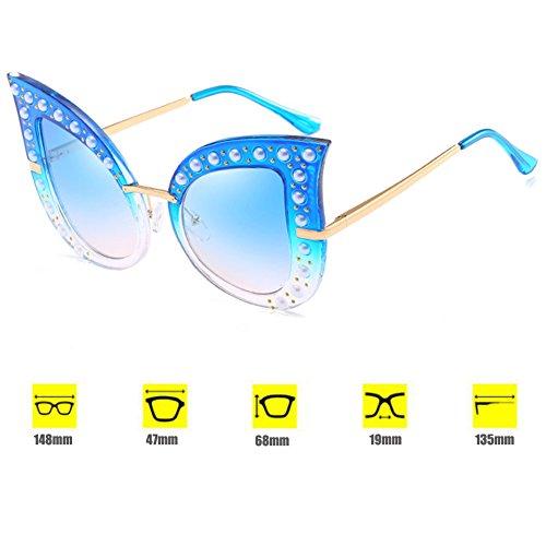 Vintage de Eye de de Gafas tamaño de moda Cat bisagras metal Inlefen sol con Sunglasses gran primavera C8 marco de Cf5pXnXwxq