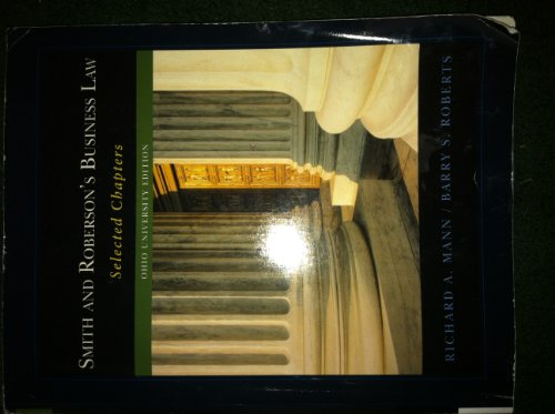 Smith and Roberson's Business Law - Selected Chapters - Ohio University