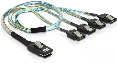 Delock Kabel Mini Sas Sff 8087 4 X Sata 7 Pin 0 5 M Computer Zubehör