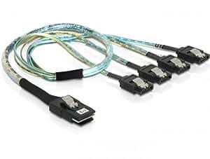 DeLOCK 83058 - Cable adaptador SAS a SATA (50 cm, 4 x SATA)
