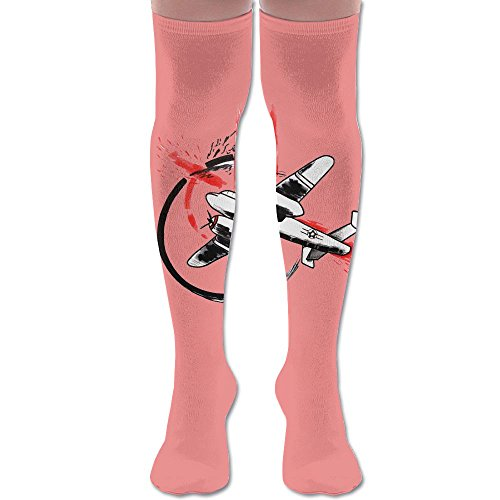 Cool Army Aircraft Polyester Cotton Over Knee Leg High Socks Printed Unisex Thigh Stockings Cosplay Boot Long Tube Socks For Sports Gym Yoga Hiking Cycling Running (Craft Pro Cool Bike)