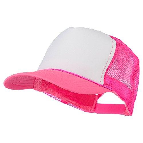 Otto Caps Neon Polyester Foam Front Trucker - Neon Pink OSFM