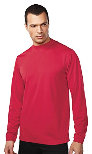 (Tri Mountain Easy Care Polyester Turtleneck Shirt. 665,Red,X-Large)