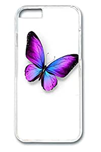 Brian114 Violet Butterfly Phone Case for the iPhone 6 Plus Clear