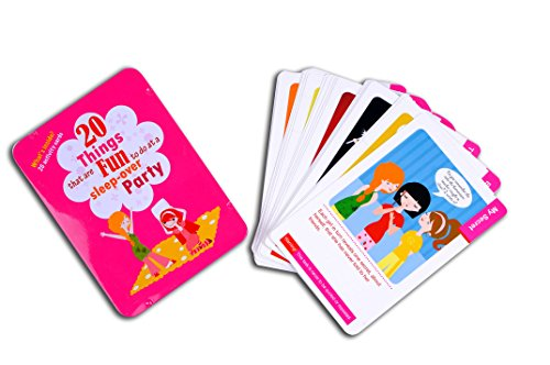 Purple Cow Activity Cards Pack - 20 Things That are Fun to Do - Sleepover Party - Card Games for Girls Ages 6 Years Old & Up. Great Birthday Party Gift. Great Fun for All