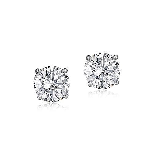 Color Si2 Clarity Lab - 100% Real Diamond Earrings Luxury Diamond Stud Earrings 1/2ct IGI Certified Diamond Stud Earrings For Women Lab Grown Diamond Earrings 14K E-F-G-H Quality Real Diamond Stud Earrings (1/2ct, Gold)