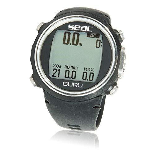 Decompression Dive Table - SEAC Guru Dive Computer Wrist Watch with Digital Compass, Black
