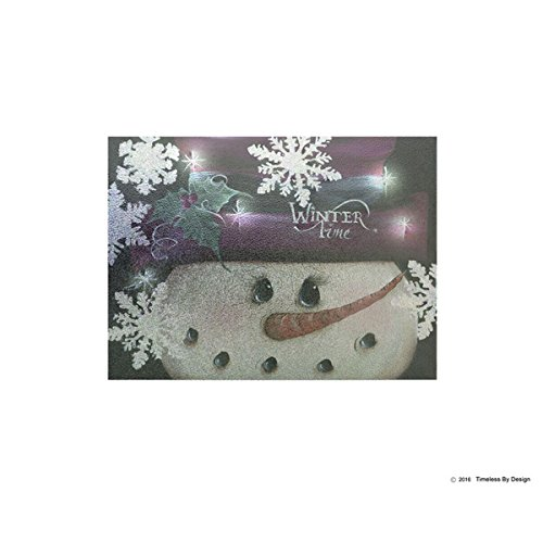 Winter Time Tempered Glass Cutting Board | Rubber Feet Kitchen Chopping Board | Shatter-Resistant Non Porous | 11 x 15 Inch (Carving Snowmen)
