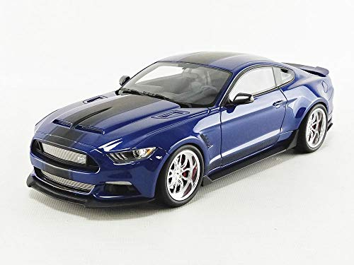 (GT Spirit Ford Mustang Shelby GT350 Widebody Deep Impact Blue with Black Stripes Limited Edition to 999 Pieces Worldwide 1/18 Model Car)