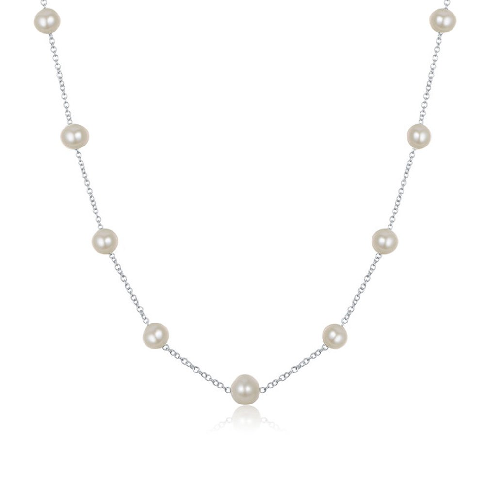 JFUME Jewelry Necklace for Women Cultured Freshwater Pearl Bridal Jewelry 18'' Adjustable