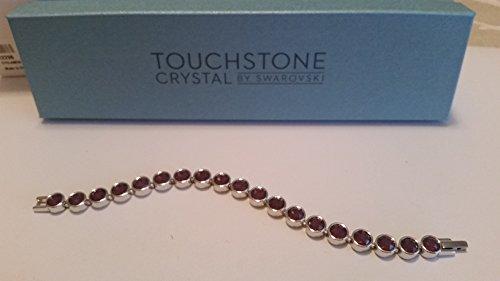 Touchstone Crystal by Swarovski Cyclamen Opal Crystal Ice Bracelet (Jewelry Crystal Touchstone)