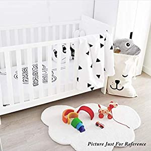 Area Rugs for Kids Cloud Shape Baby Crawling Rugs Carpet Room Warm Soft 100% Cotton Luxury Plush Handmade Knitted Nursery Decoration Rugs 39.5 INCH25.5 INCH