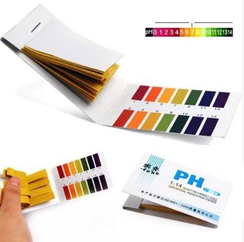 Daytingday 80 Pcs Strips Full Range PH Test Paper Strips Alkaline Acid 1-14 Test Paper Water Litmus Testing Kit