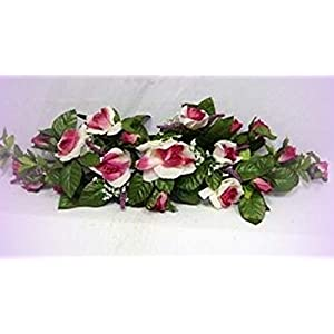 Inna-Wholesale Art Crafts New Rose Swag Cream Mauve Silk Centeripece Decorating Flowers Arch Gazebo DIY - Perfect for Any Wedding, Special Occasion or Home Office D?cor 63