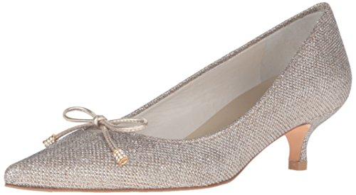 Stuart Weitzman Women's Glolopanache Dress Pump, Platinum, 6.5 M US - Stuart Weitzman Evening Shoes