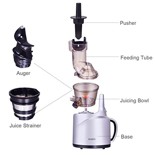 Slow Juicer, Wide Mouth Masticating Juicer for Home Appliance, 240W, Quiet Motor by JQUEEN (Image #1)
