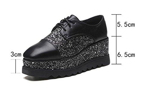 Spring CN37 plataforma zapatos los UK4 punta zapatos elevador encaje de de escogen US6 fondo 5 zapatos 5 7 zapatos EU37 del con pesada los de Ms de pendiente cuadrada 5 xq0IqC
