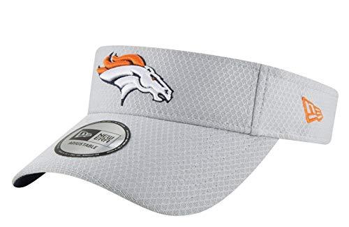 New Era Denver Broncos Adjustable On Field Visor Cap Grey Hat One Size