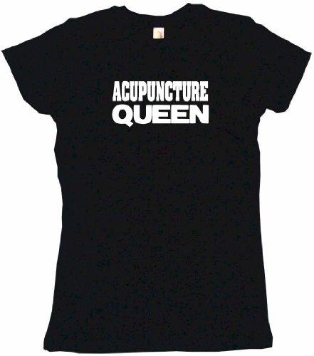 Acupuncture Queen Women's Babydoll Tee Shirt Medium-Black