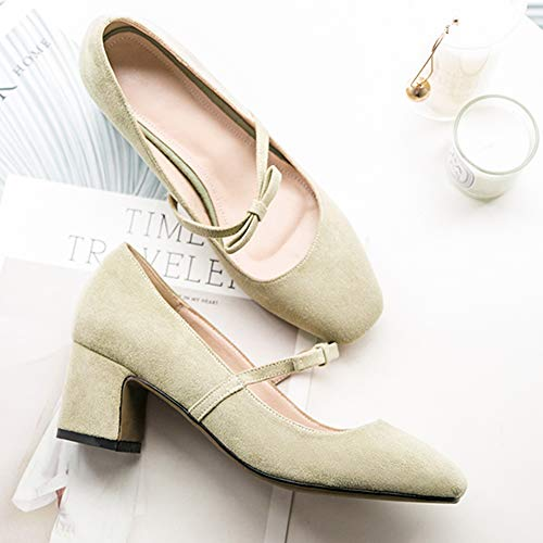 Medio Dolce Tacco verde Pumps Donne Shoes Pearl Zanpa Light xq5wYX86