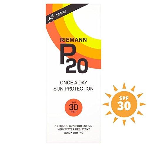 粗い視力消毒するRiemann P20 SPF30 1 Day/10 Hour Protection 200ml (Pack of 6) - リーマン20 30 1日/ 10時間の保護200ミリリットル x6 [並行輸入品]
