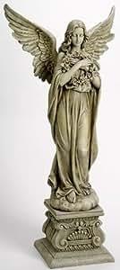 Joseph's Studio Collection 4 Feet Tall Angel Holding Wreath Figurine Garden Home Decor By Roman Inc Home Garden Decor
