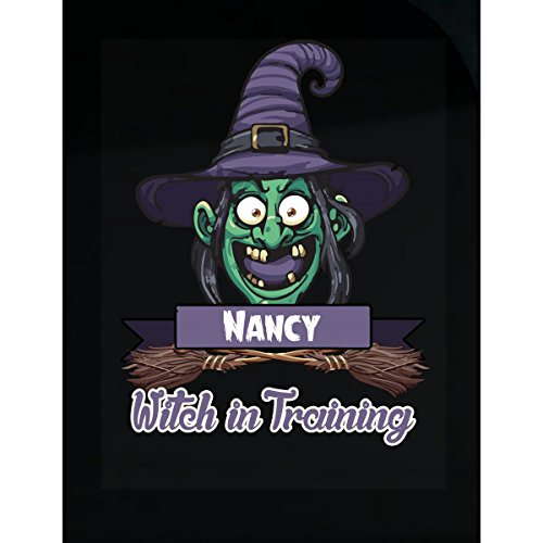 Halloween Costume T Shirt For Kids Nancy Witch In Training Funny Halloween Gift - Sticker ()