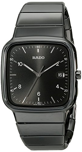 Rado Men's R28887162 R5.5 Analog Display Swiss Quartz Black Watch