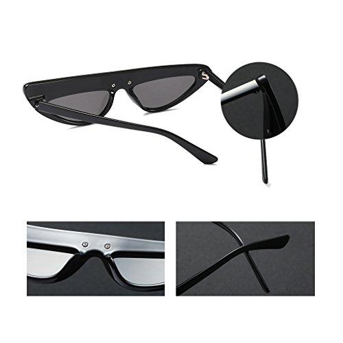 UV400 asymétriques des Cat de Soleil Rétro ZHHL Lunettes des Soleil Protection la Mesdames de de personnalité 100 Lunettes Black Femmes Eye PSWHZwZnq1