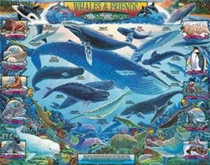 Weiß Mountain Puzzles Puzzle Whales and Friends 1000 Piece Jigsaw Puzzle Puzzles by Weiß Mountain Puzzles 2d465c