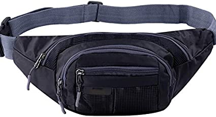Mens Womens Waist Bag Fanny Pack Belt Travel Pouch Adjustable Water Resistant