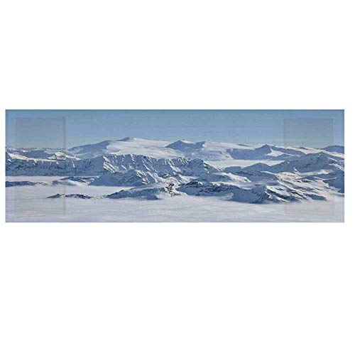 - Farmhouse Decor Microwave Oven Cover with 2 Storage Bag,Snowy Summit of Alps Over Clouds Scene at Winter Wilderness in Nature Cover for Kitchen,36
