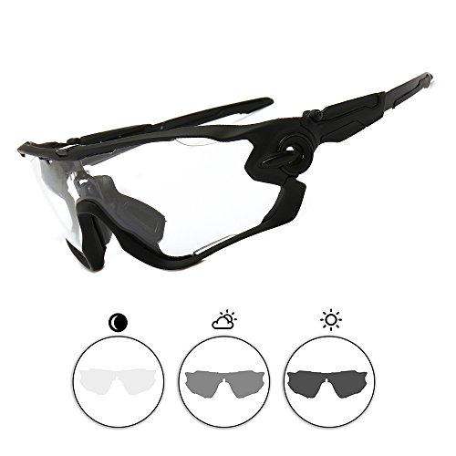33702f93208 8 · Ftiier Sports Sunglasses Photochromic- UV400 Protection Cycling Glasses  for Men Women Cycling Baseball Fishing Ski
