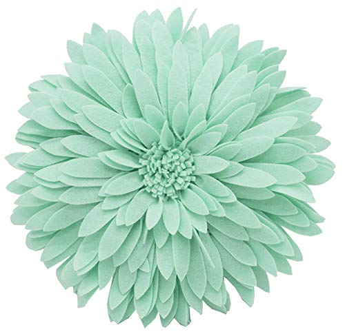 - Elegant 3D Sunflower Throw Pillow - Round 13 x 13 Decorative Throw Pillow - Mint Green Accent Pillows for Couch, Bedroom And Living Room Decor - Sunflower Decorative Pillows With Case And Insert