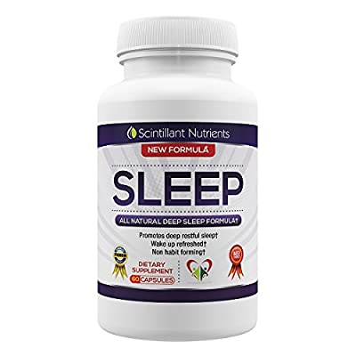 SLEEP by Scintillant Nutrients Natural Herbal Deep Sleep and Relaxation Supplement 60 Capsules with Valerian Root Extract and Melatonin - BUY 4 SAVE 25% - BUY 3 SAVE 20% - BUY 2 SAVE 10%