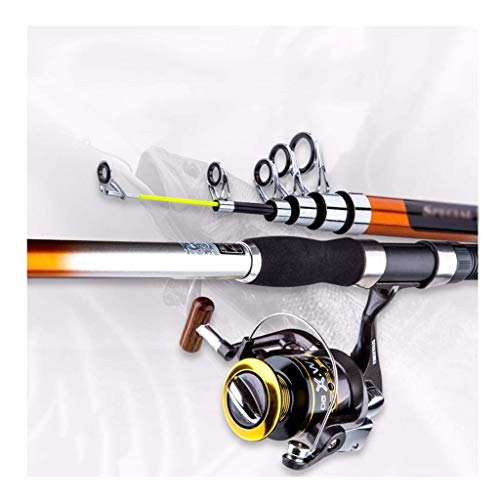 fishing-rods Carbon Super Hard Super Light Carbon Sea Rod Set Fishing Gear Plus Fishing Reel (Size : -