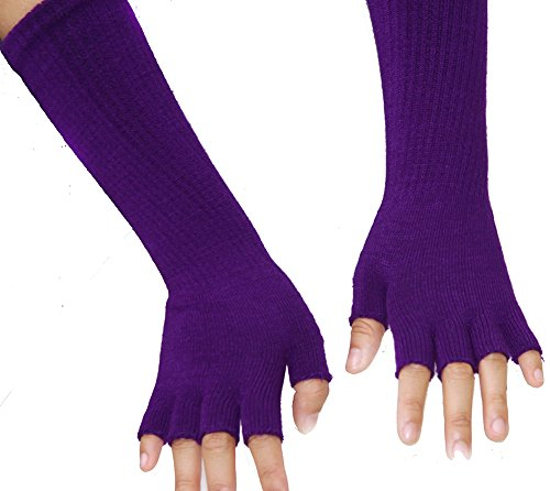 Purple Fingerless Gloves (Gravity Threads Long 11