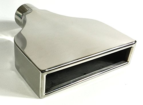Exhaust Tip 2.25 In Inlet 7.75 X 2.25 In Outlet 10.00 In Long Rolled Rectangle W225775-225-CMSS Stainless Steel Wesdon Exhaust Tip ()