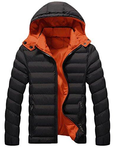Outwear Nero Caldo Cappotto Xxl Eku Ci Maschile Moda Piumino Collegio 7xqB1Cw1