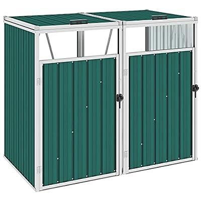 Metal Storage for 2 Bins Green