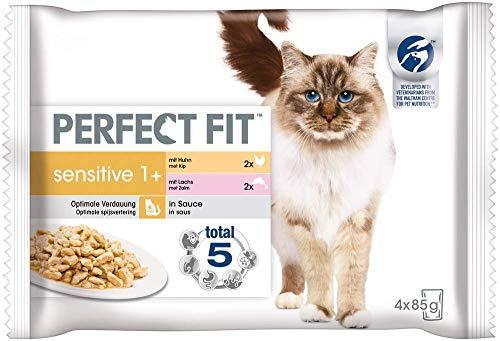 Perfect Fit Sensitive 1+ – Nassfutter für erwachsene, sensible Katzen ab 1 Jahr – Ohne Weizen & Soja – Unterstützt die…