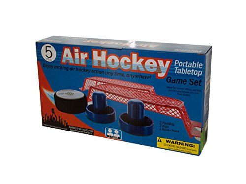 bulk buys Portable Tabletop Air Hockey Game Set Action Figure by bulk buys