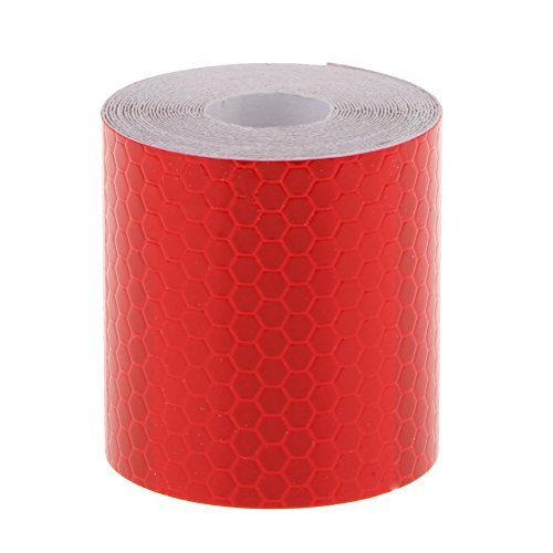 OULII Adhesive Reflective Tape Sticker Safety Tape Conspicuity Tape 3M (Red)