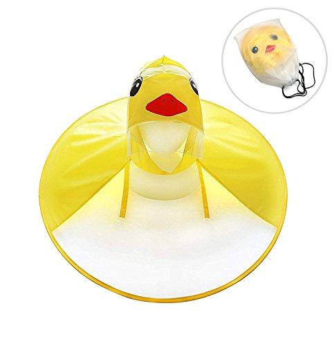 (Portable Reusable Raincoats,Children's Duck Raincoat UFO Raincoat Children Umbrella Cartoon Cloak Hooded Raincoat for Boys Girls (Small))
