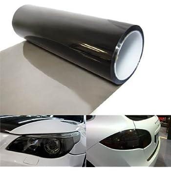 DIYAH 12 X 48 Inches Self Adhesive Headlight, Tail Lights, Fog Lights Tint Vinyl Film (Light Black)