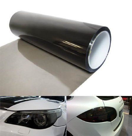 DIYAH 12 X 48 Inches Self Adhesive Headlight, Tail Lights, Fog Lights Tint Vinyl Film (Light Black)