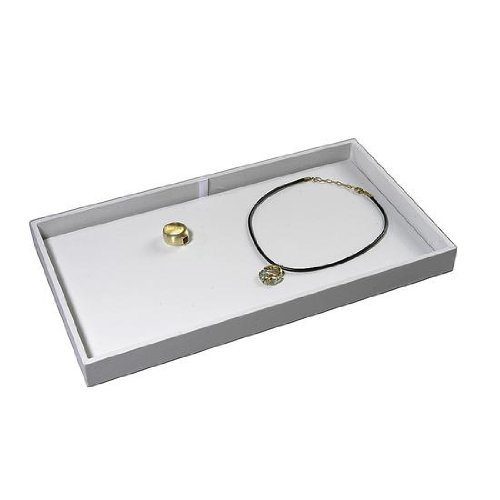 Deko-Woerner Schmuck-Tablett 21x37cm weiß