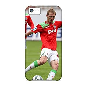 High Impact Dirt/shock Proof Case Cover For Iphone 5c (vladislav Ignatiev Lokomotiv Player On The Field) by icecream design