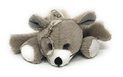 Gray Plush Teddy Bear Coin Purse (Boston Teddy Bear)