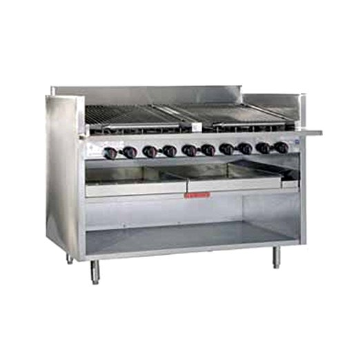 MagiKitch'N FM-RMB-630 30'' Floor Model Gas Radiant Charbroiler by MagiKitch'N